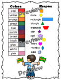 Color Words, Shape Names and Left/Right Chart