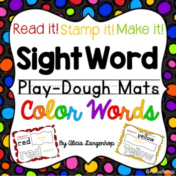 Color Words Sight Word Play Dough Mats FREEBIE