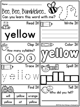 Activities to help students learn their spelling words