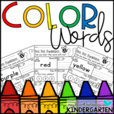 Sight Word Worksheets - Color Words   Distance Learning