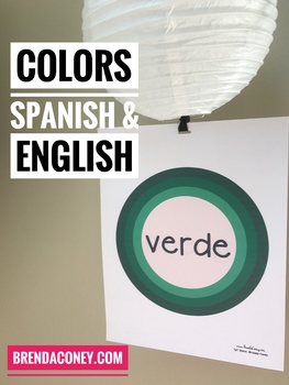 Color Words Signs English & Spanish (Table Teams or Posters)