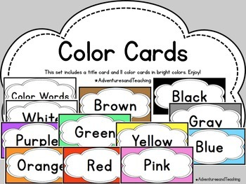 Color Word Cards {Simple}