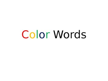 Color Words Slide Show Powerpoint