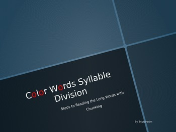 Color Words Syllable Division System