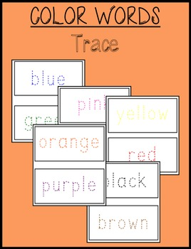 Color Words Tracing