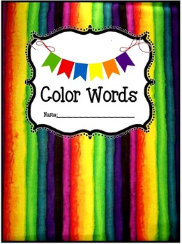 Color Words Unit