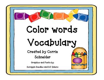 Color Words Vocabulary