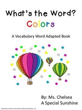 Color Words Vocabulary Unit