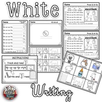 Color Words: WHITE{sight words, simple sentences, vocabula