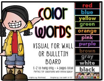 Color Words Wall or Bulletin Board Display