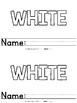 Color Words - White Emergent Reader