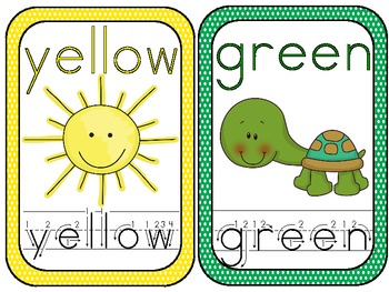 Color Words Word Wall Cards