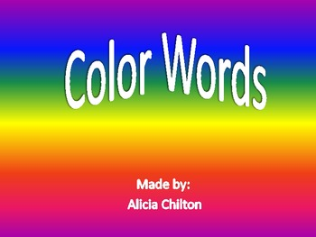 Color Words Word Wall Circles