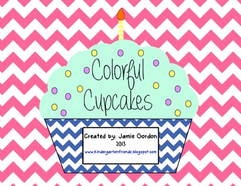 Color Words - Word Wall Cupcakes