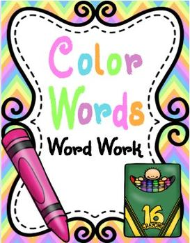 Color Words Word Work