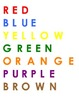 Color Words Word Work center daily 5