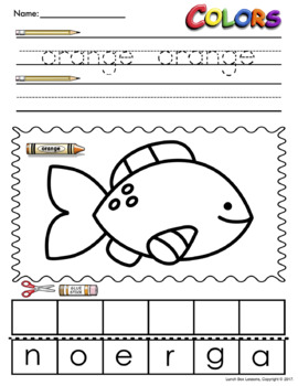 Color Words Worksheets