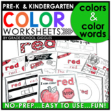 Learning Color Words Worksheets | Coloring Pages | Color Identification Practice