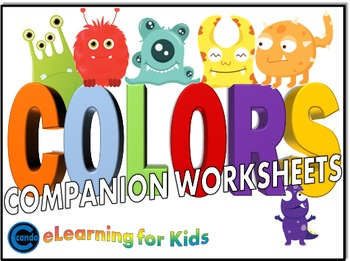 Color Words Worksheets and Printable Activities