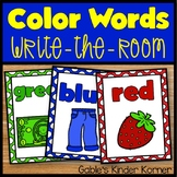 Color Words Write-Around-The-Room
