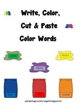 Color Words (Write, Color, Search, Cut & Paste)