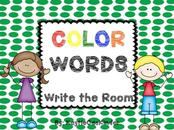 Color Words: Write the Room