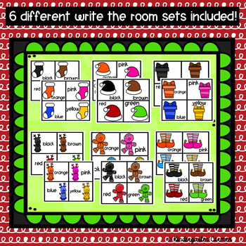 Color Words Write the Room Bundle : Christmas Edition