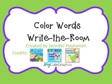 Color Words Write the Room Game