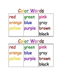Color Words (Writer's Workshop Folder)