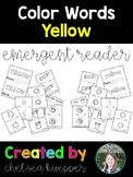 Color Words - Yellow Emergent Reader