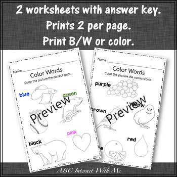 Color Words and Color Recognition ~ Interactive Color Game {Dress the Snowman}