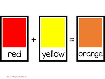 Color Words and Mixing Colors Posters