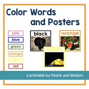 Color Words and Posters w/ real pictures