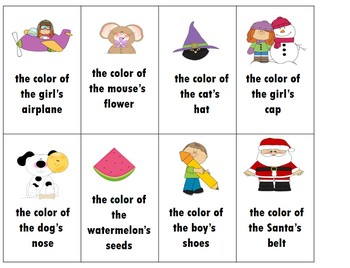 Color Words for First Graders