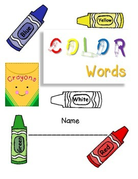 Color Words Journal or Work Book