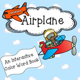 Color Words interactive book: Airplane
