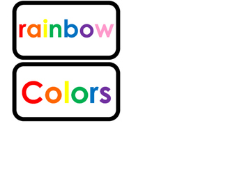 Color Words printable Word Flashcards. Preschool and Kindergarten flashcards.