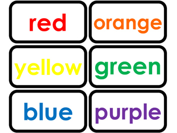 photo about Color Words Printable called Colour Terms printable Term Flashcards. Preschool and Kindergarten flashcards.