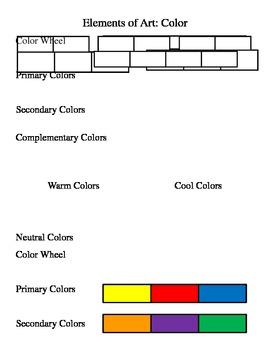 Color Worksheet-Element of Art