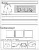 Color Worksheet Packet: Trace and Paste