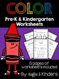 Color Worksheets [[15 pages!!]]