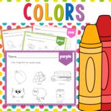 Color Worksheets for color recognition