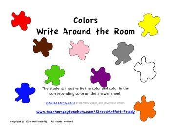 Color Write Around the Room