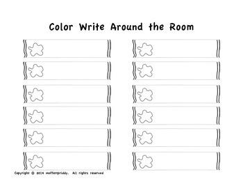 Color Write Around the Room set 2
