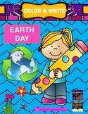 Color & Write Earth Day (earth, recycle, ocean, tree, flower)