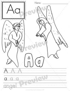 Write and Color My Bible ABC's (Christian Alphabet)