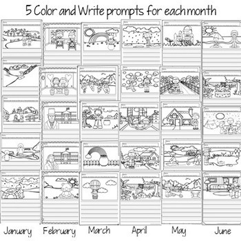 Color & Write Through the Year