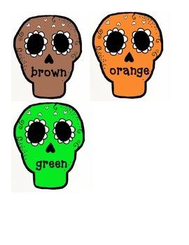 Color Write the Room- Dia de los Muertos theme