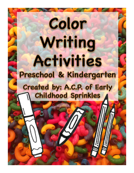 Color Writing Activities