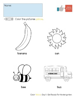 Color Yellow Activity Pack